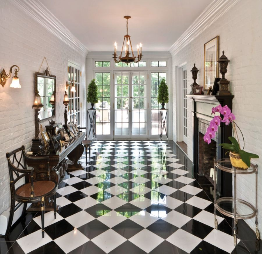 Best Stunning Glossy Black And White Checkerboard Tiles In This 400 x 300