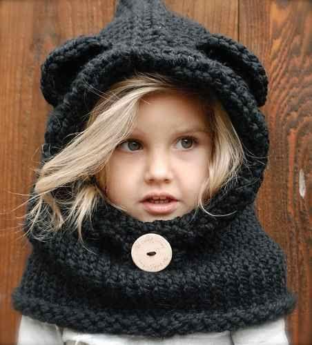 Gorros de lana con orejas de gato - Imagui  1cccd98630c