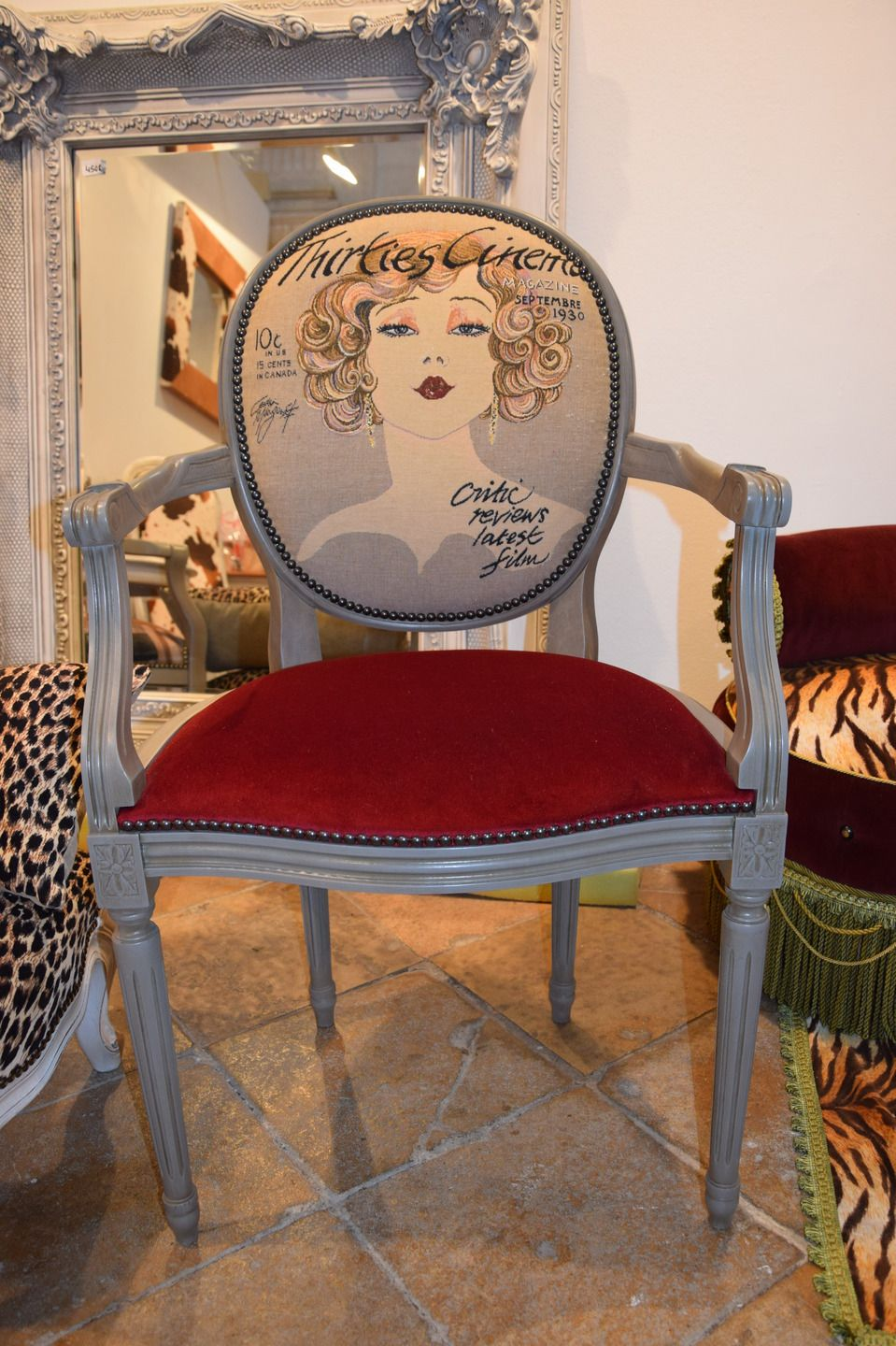 Fauteuil Mdaillon Style Louis XVI Relook Actrice Anne 30