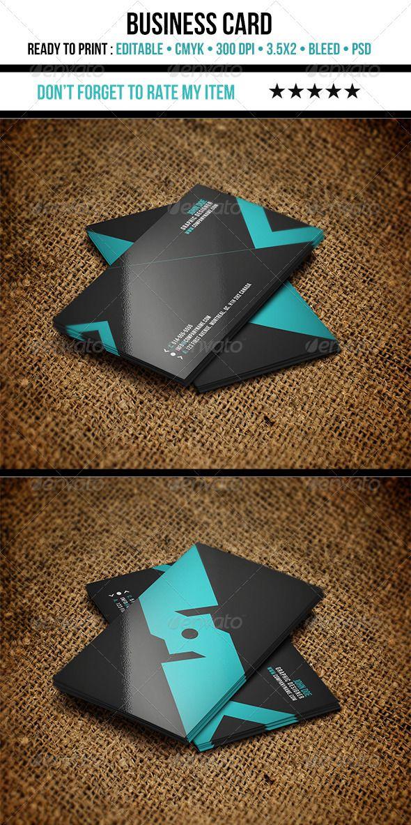 Teal & black business card design - #graphic #design
