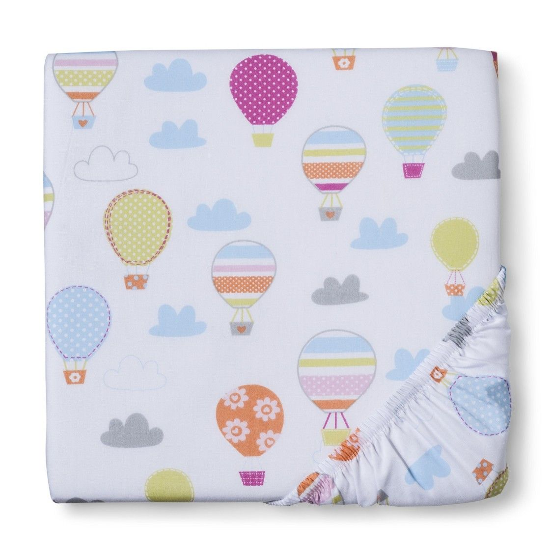 Circo Up We Go Balloon Fitted Crib Sheet Baby On The Way