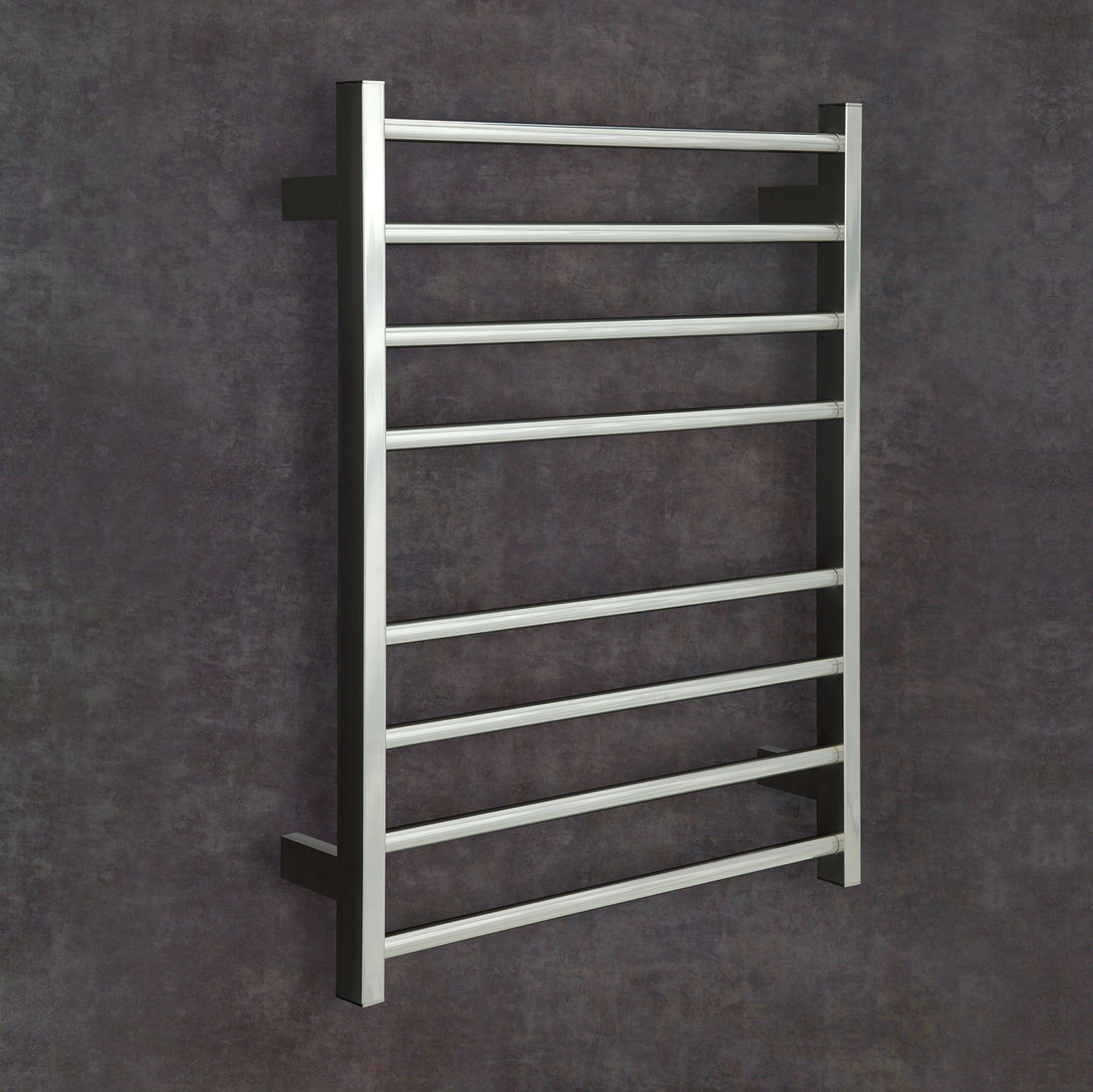 Thermorail Square/Flat Stainless Steel Heated Towel Rail. 6 Bars Output W  75.