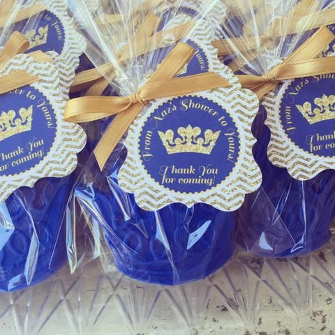 Personalised 5 x Crown Soaps Little Prince or Princess To Be Baby Shower Favours