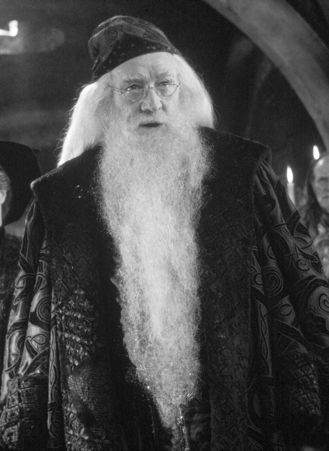 albus dumbledore as played by richard harris in films 1