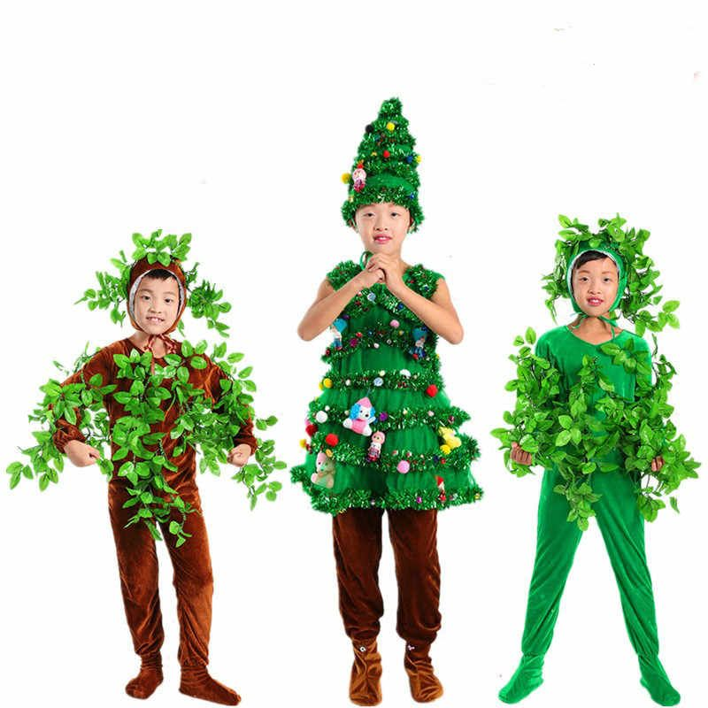 Adults And Kids Halloween Party Green Costumes Children S Trees Cosplay Clothes Party Costume Family Suit Game Costumes Aliexpress In 2020 Fairy Costume Kids Halloween Party Kids Tree Costume