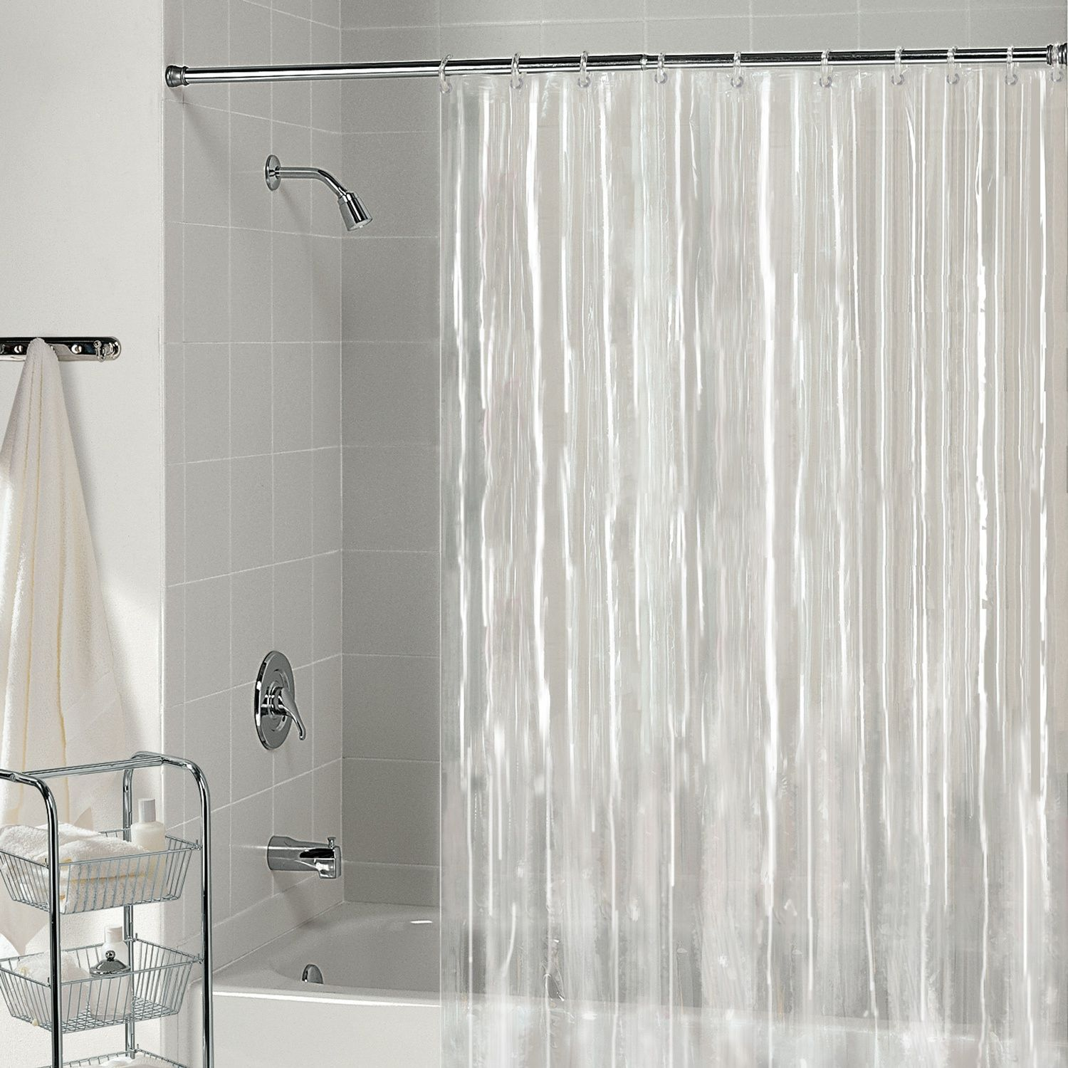 How To Decorate A Clear Shower Curtain Garden Style Clear Curtain