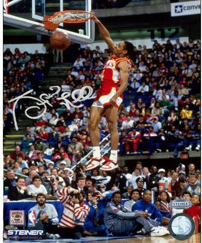 64b2841dd Spud Webb Signed Slam Dunk Contest 8x10 Photo