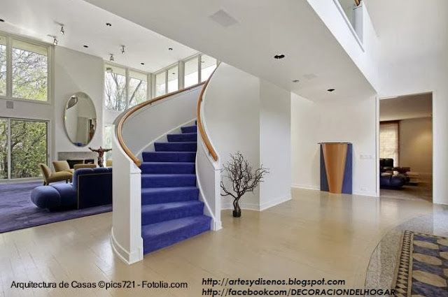 10 modelos y tipos de escaleras para interiores by for Modelos escaleras interiores