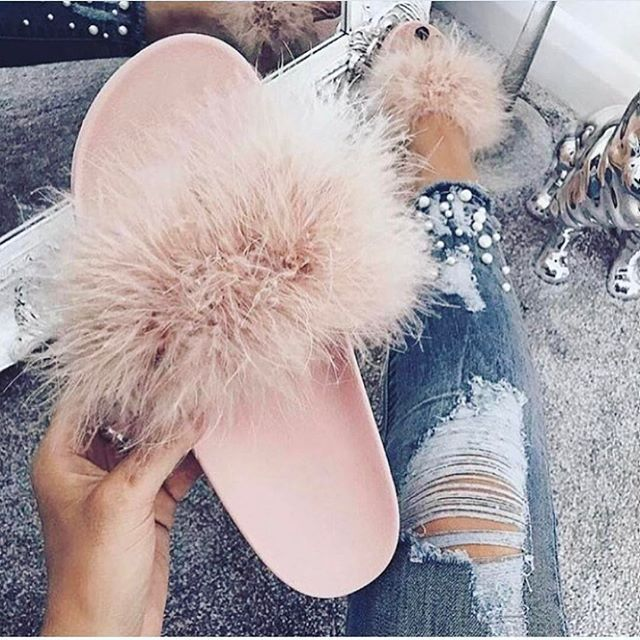 slides  mules  givenchy  mink  fluffy  shoes  footwear  fab  pink  perfect 502449f37