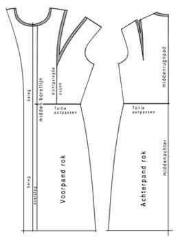 rok patroon tekenen