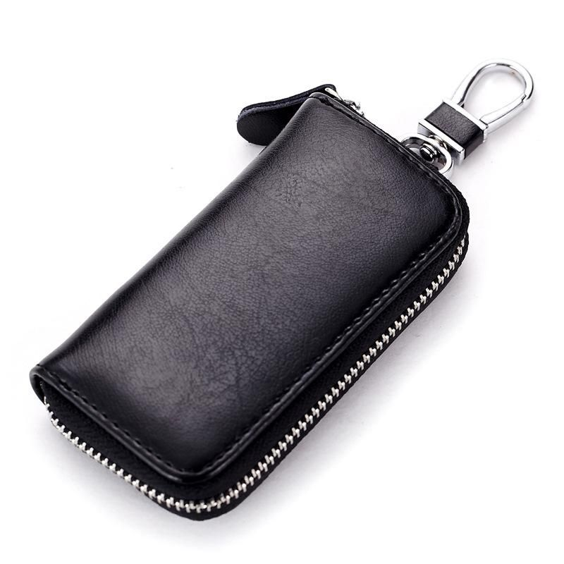 Multifuction Leather Key Wallet Holder Organizer Colorful Car Keyring Case Pouch