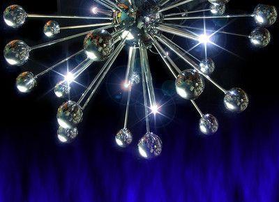 Leitmotiv led silver chrome sputnik retro pendant ceiling light chandeliers leitmotiv led silver chrome sputnik retro pendant ceiling light sculpture uk mozeypictures Images