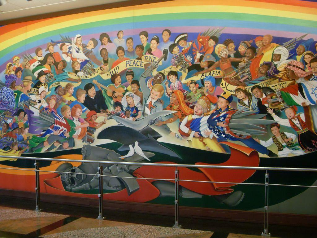 Aeroporto Denver Murales : Denver airport coffin murals international