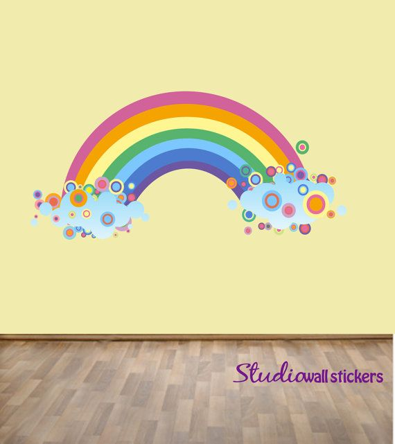 Best Rainbow Wall Decal Childrens Fabric Wall Decal 640 x 480