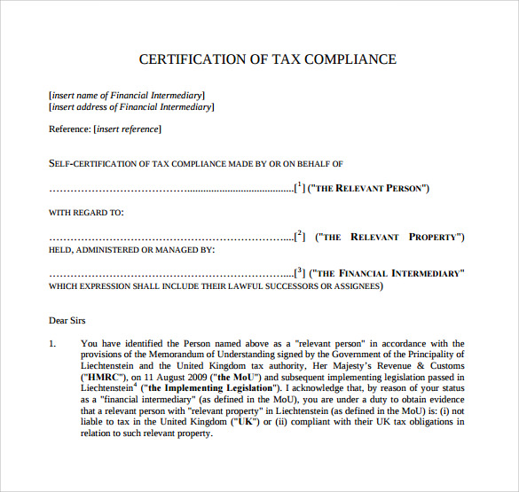 Certificate Of Compliance Template from i.pinimg.com