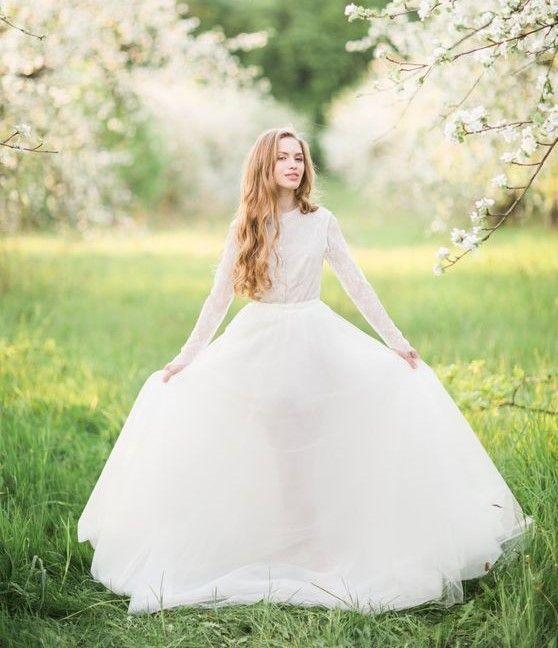High-necked, long-sleeve wedding dress   Cathy Telle Bridal #tznius ...