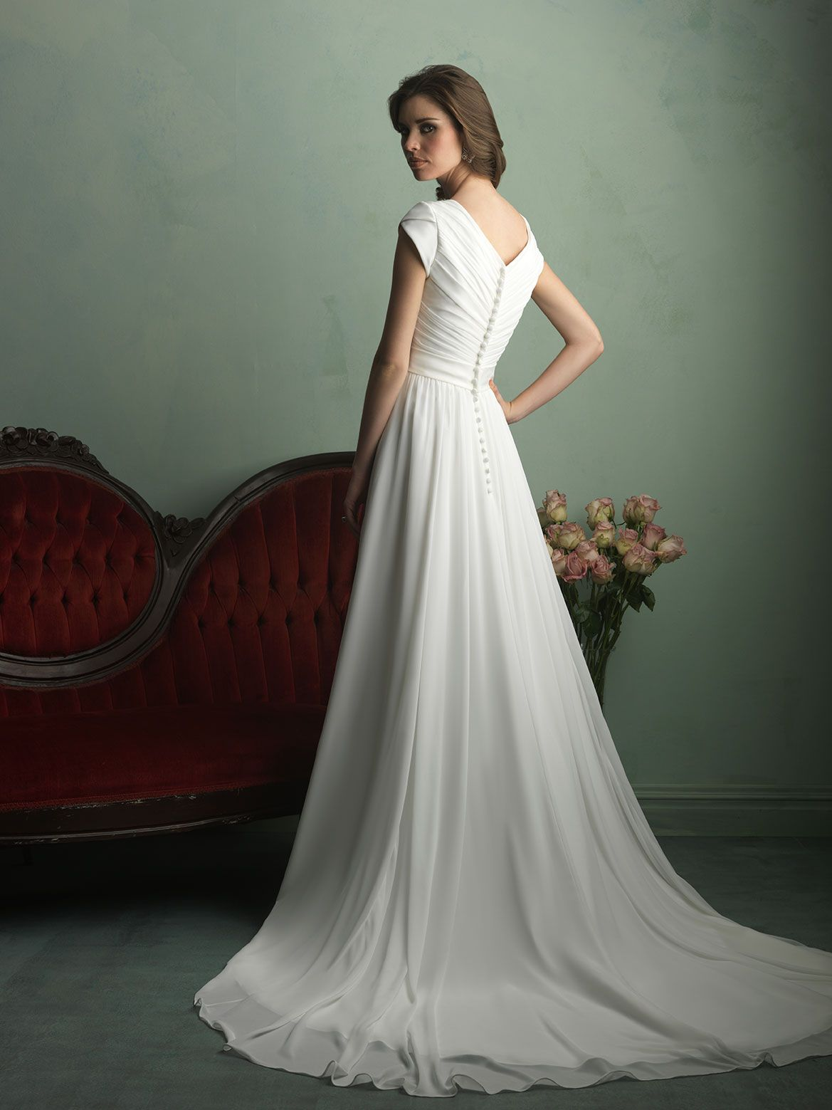 Modest, Soft, Pretty... At Hart\'s Tux and Gowns   Modest Wedding ...