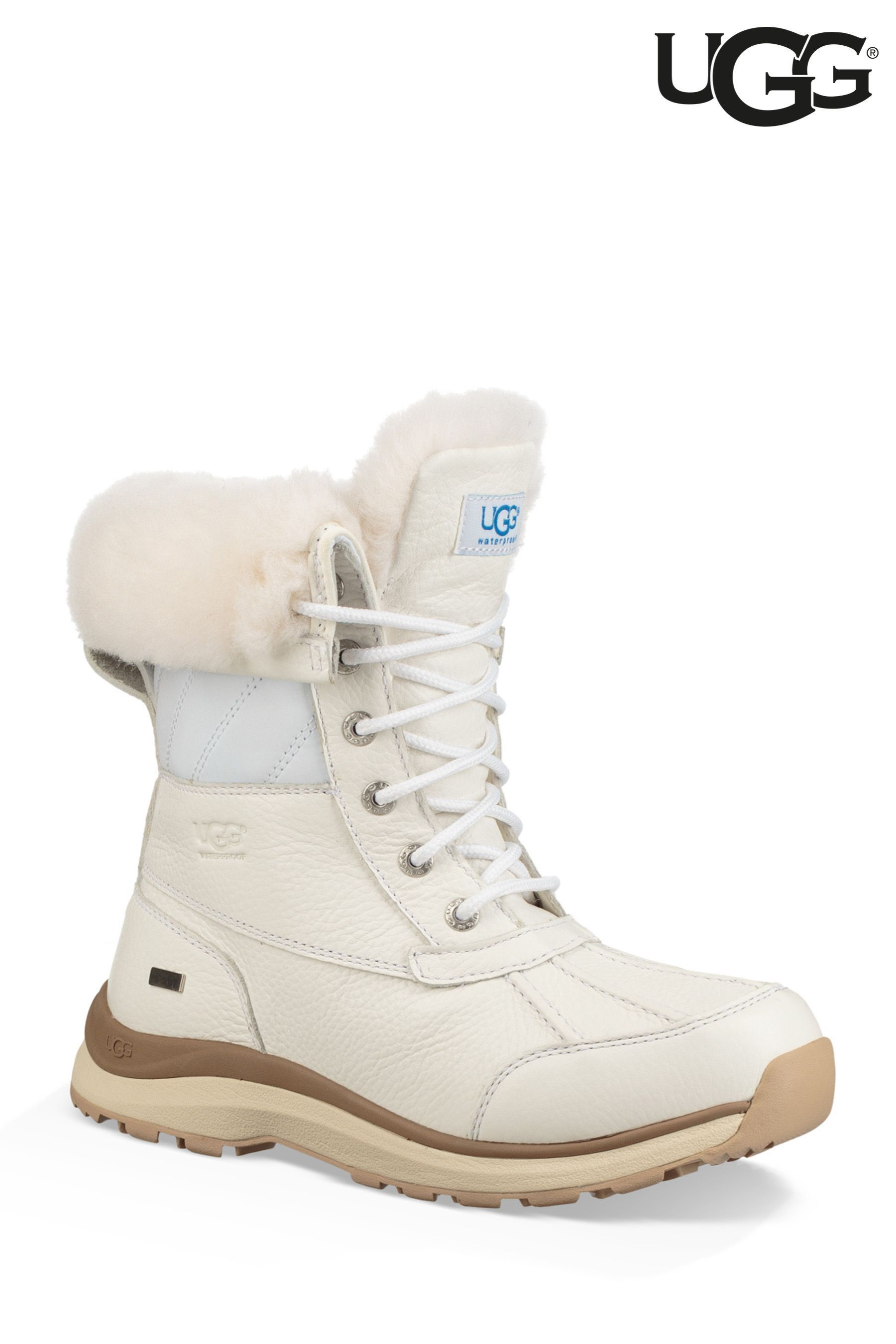 6794f0d7d2e Womens UGG Adirondack White Quilt Snow Boot - White | Products ...