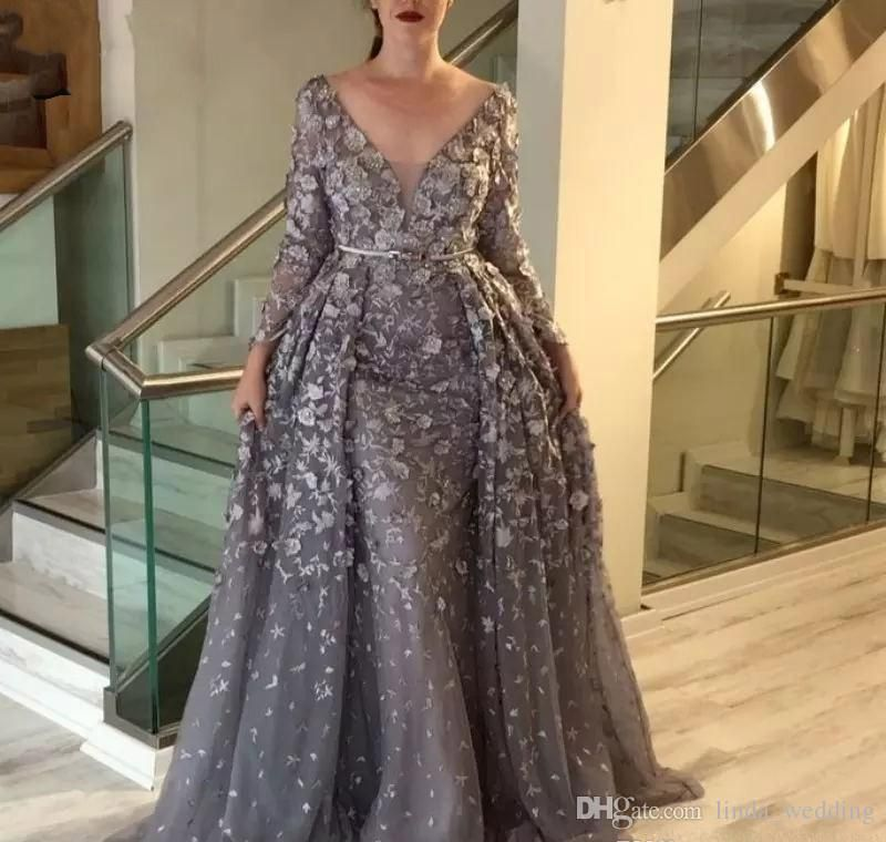 Vintage Wedding Dresses Perth: Vintage Gray Mother Of The Bride Dresses 2019 A Line Long