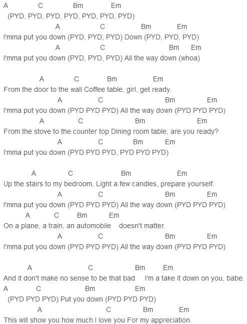 Pyd Chords Justin Bieber R Kelly Justin Bieber Songs Justin
