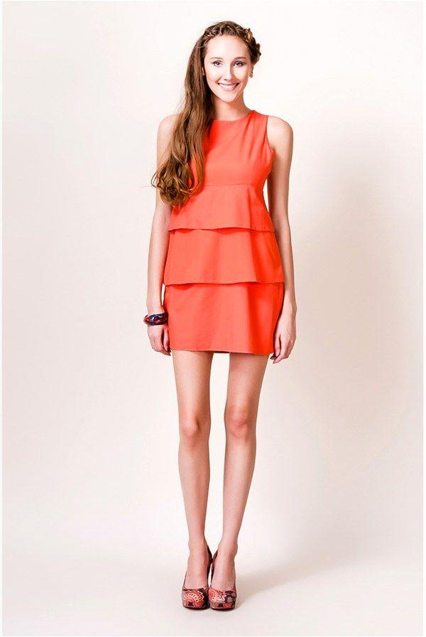 Orange dress by Lea Fashion. You can find it on  Stilago club ... 691a6347b5d