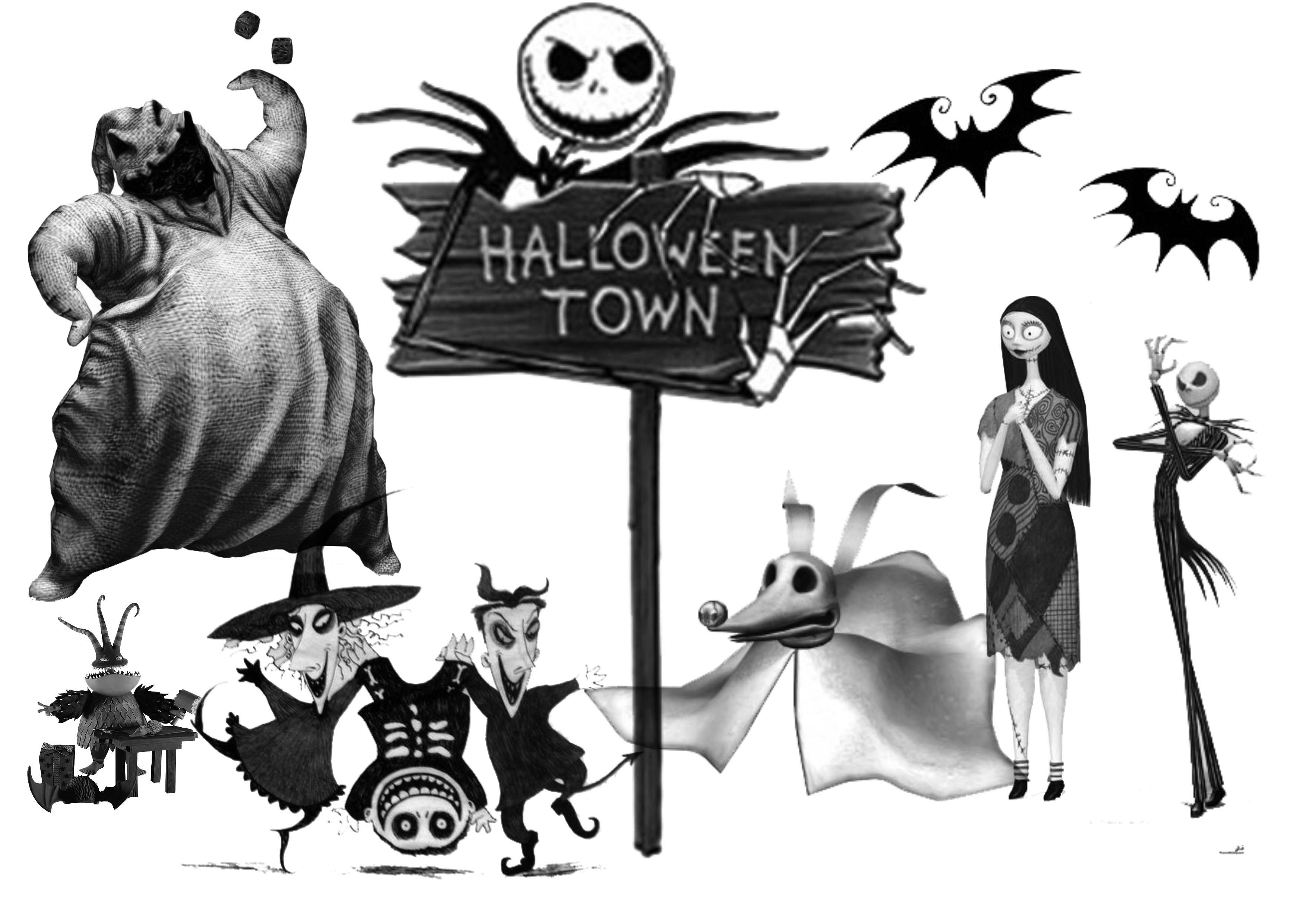 Nightmare Before Christmas Coloring Pages WLOS Logo.png