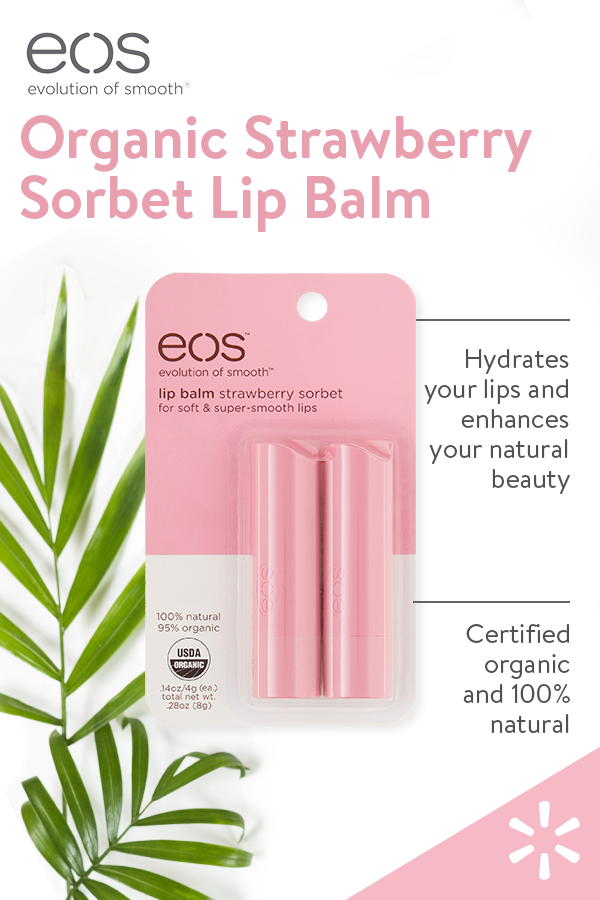 eos Strawberry Sorbet flavored lip balm is USDA Certified