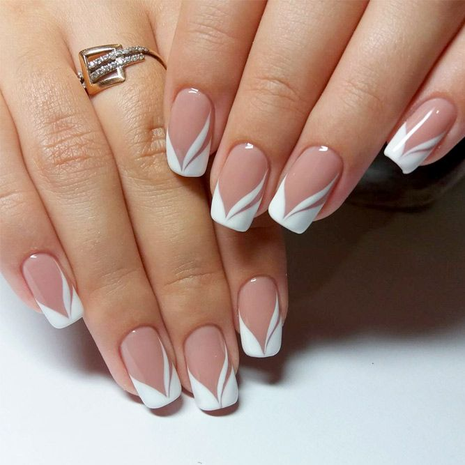 Designs of French manicure are much more intricate this season. Click to  see our favorite French manicure designs. - 24 New French Manicure Designs To Modernize The Classic Mani