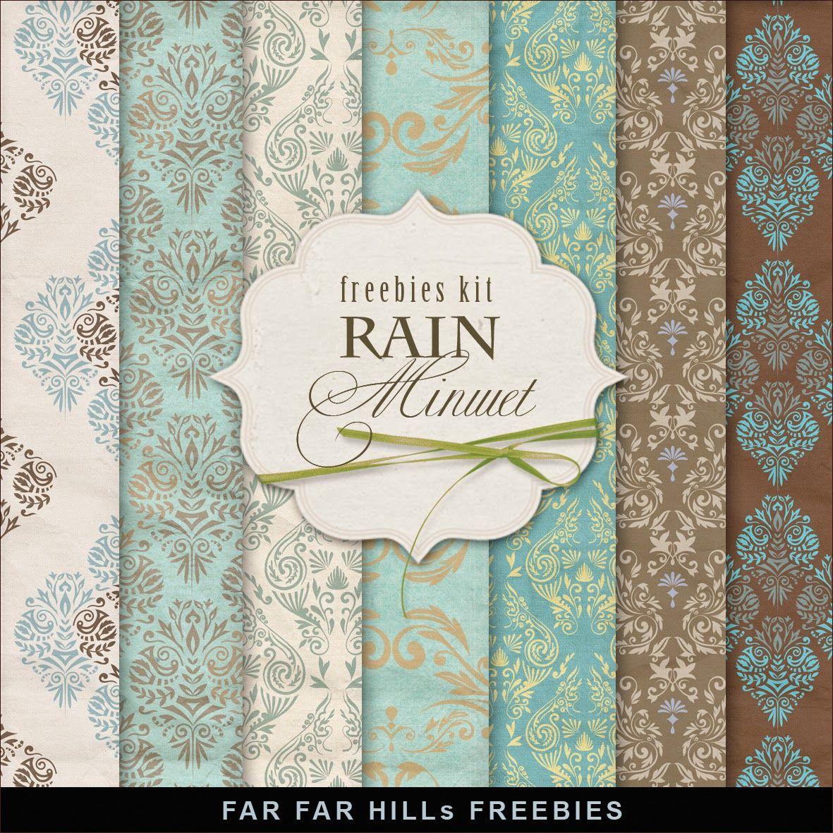 New Freebies Kit of Backgrounds - Minuet Rain