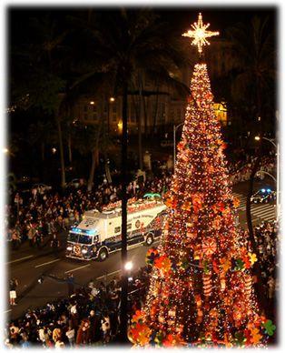Honolulu lights up Christmas season in Hawaii Mele Kalikimaka