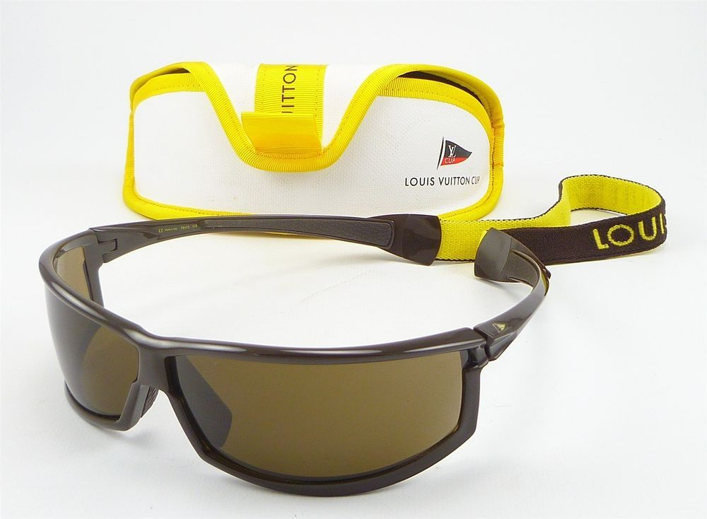 faf25acce8a Louis Vuitton Cup Shield Style Sunglasses w  Strap   Case M80659 Mens Dark  Brown  LouisVuitton  Sport  distinctivedeals