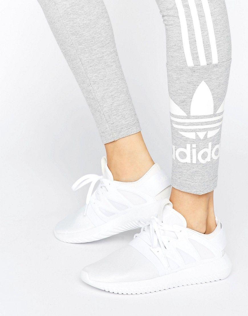 brand new cdbfe 7735f Zapatillas de deporte blancas Tubular Viral de adidas Originals. Zapatillas  de deporte de Adidas, Exterior de malla transpirable, Cierre de cordones,  ...