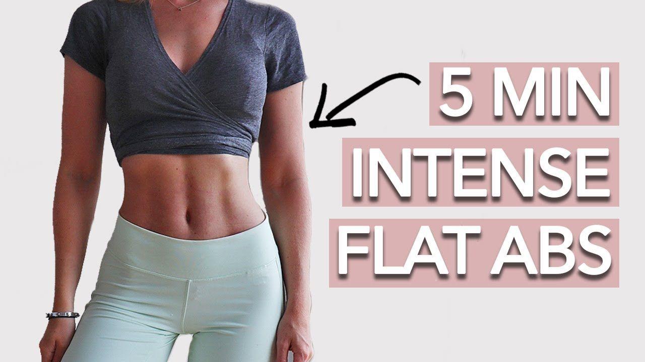 Intense Flat Abs Workout (5 Mins - Follow Along)