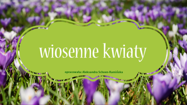Discover More About Poznajemy Wiosenne Kwiaty Personalized In 2021 Personalised Discover