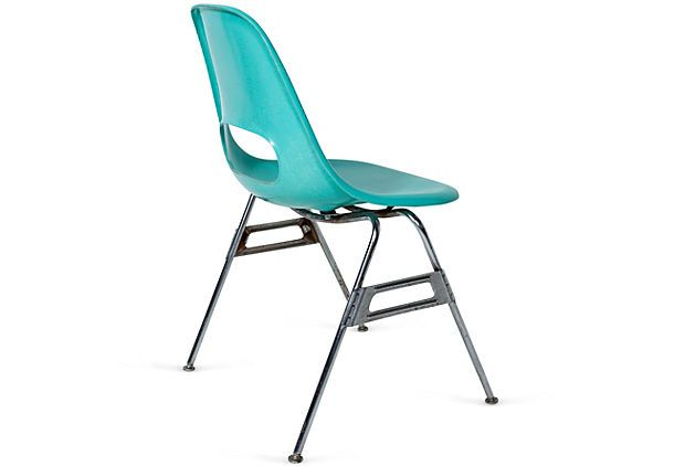 Fiberglass Shell Chair Made By Krueger Metal Products, Green Bay, WI   Rear  View