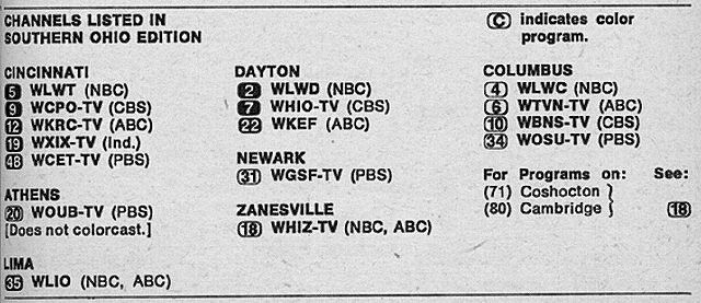 Southern Ohio Edition September 11 1971 Tv Guide Pbs Abc