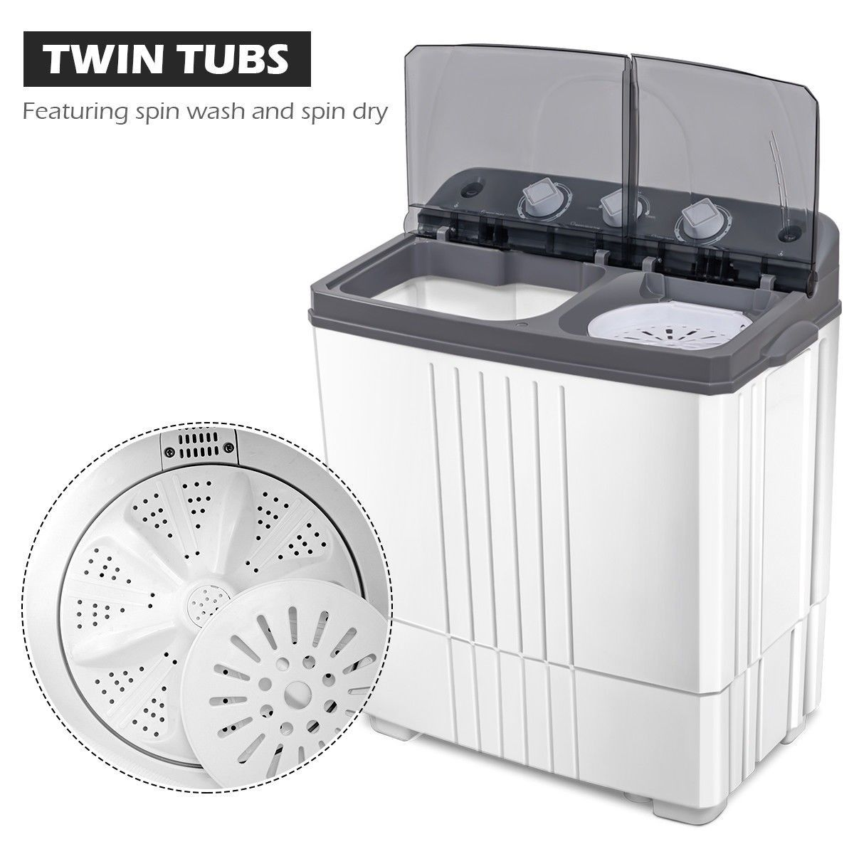 Twin Tub Portable Mini Washing Machine Twin Tub Mini Washing
