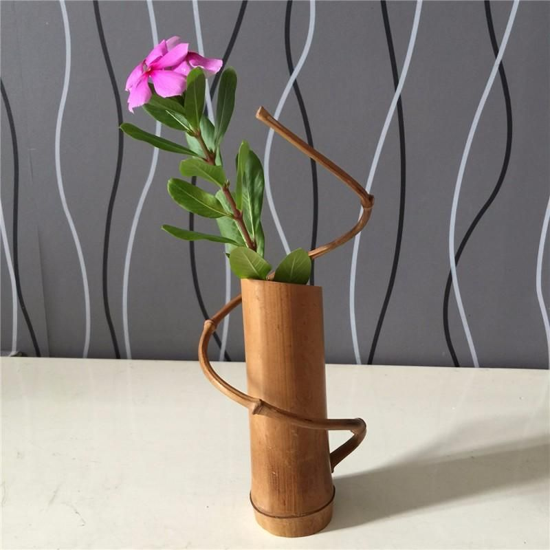 Home Decoration Handmade Bamboo Flower Vase Bamboo Diy Bamboo Decor Bamboo Garden