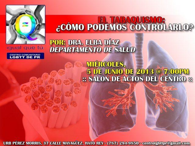 Charla: Tabaquismo @ Centro Comunitario LGBTT de Puerto Rico, San Juan