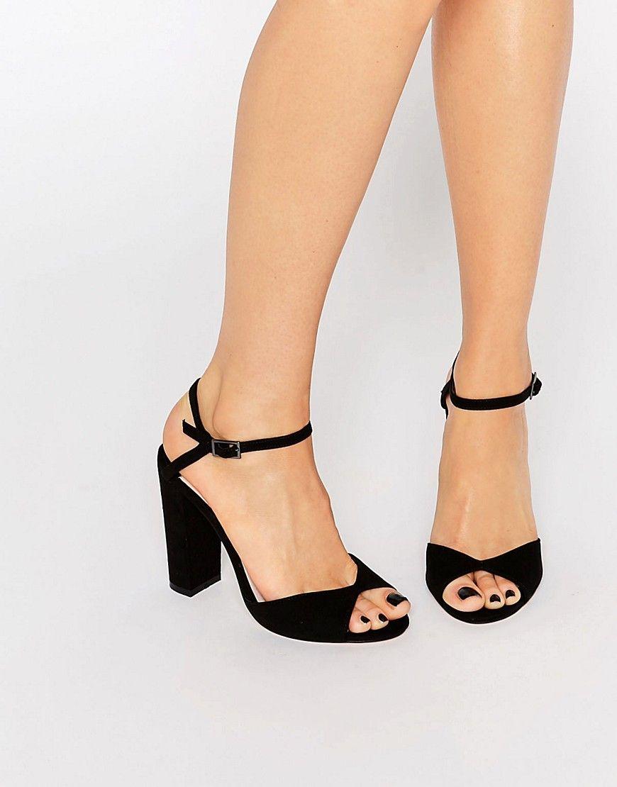 7d4972ee8c0 Faith+Lenny+Black+Block+Heel+Sandals