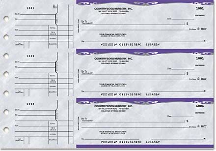 Business Checks Unlimited Platinum General Purpose 3 on a page 275419,  #3 on a page Checks