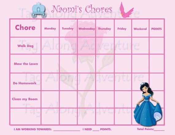 Chore Chart Template – Incentive Chart Template