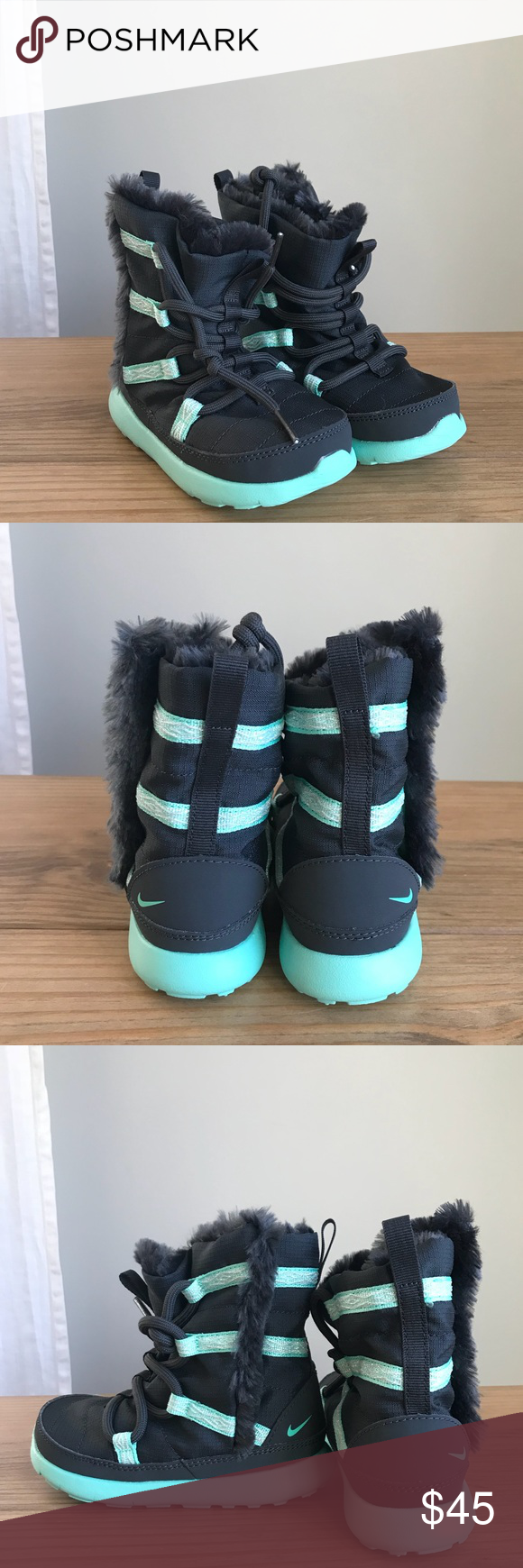 7bc43574eb94 NWOT  Nike Roshe One Hi sneakerboot toddler size 8 NWOT  Nike Roshe One Hi  sneakerboot toddler size 8 color is anthracite green glow.
