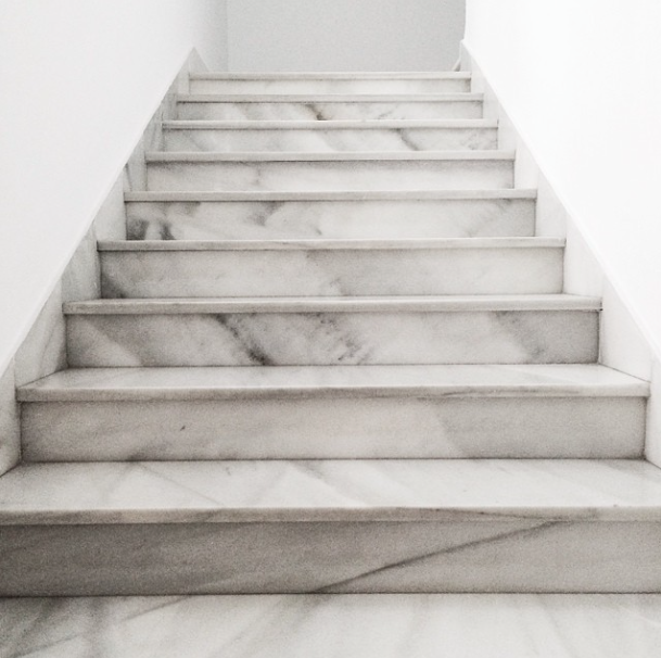 If I ever own a fancy mansion, expect these marble stairs ...