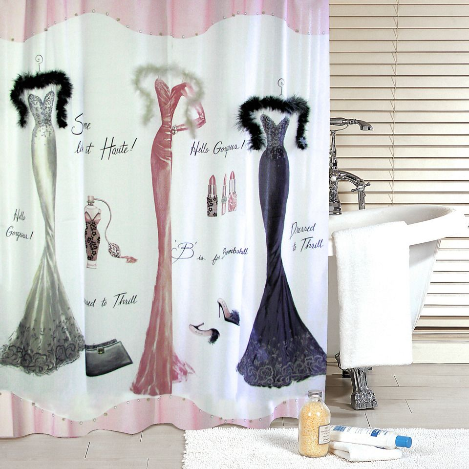 40 Aquarius Bath Fashions Dressed To Thrill Vintage Shower Curtain