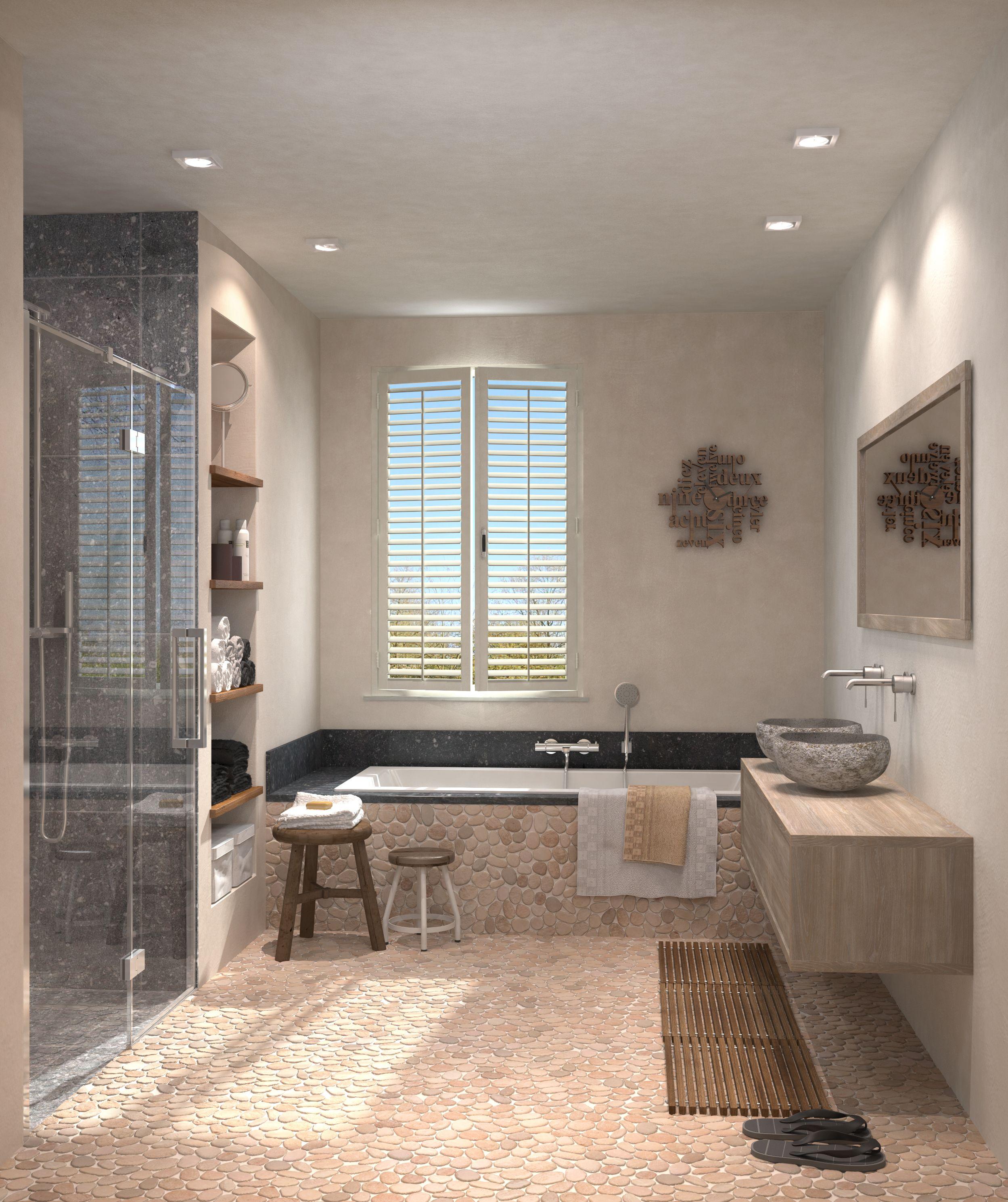 stoere landelijke badkamer met leava claire maison badmeubel
