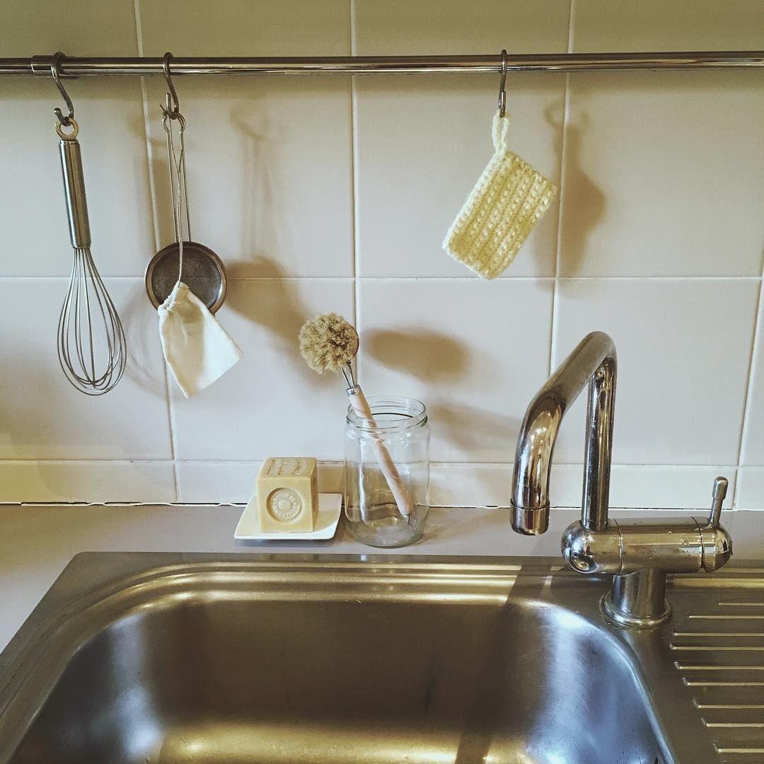 Cuisine Zero Dechet Mes Essentiels Pour La Vaisselle Brosse En