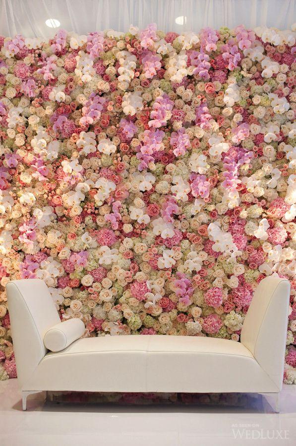 Wedluxe Magazine The Global Authority On Luxury Weddings Flower Wall Wedding Photo Backdrop Wedding Wedding Decorations