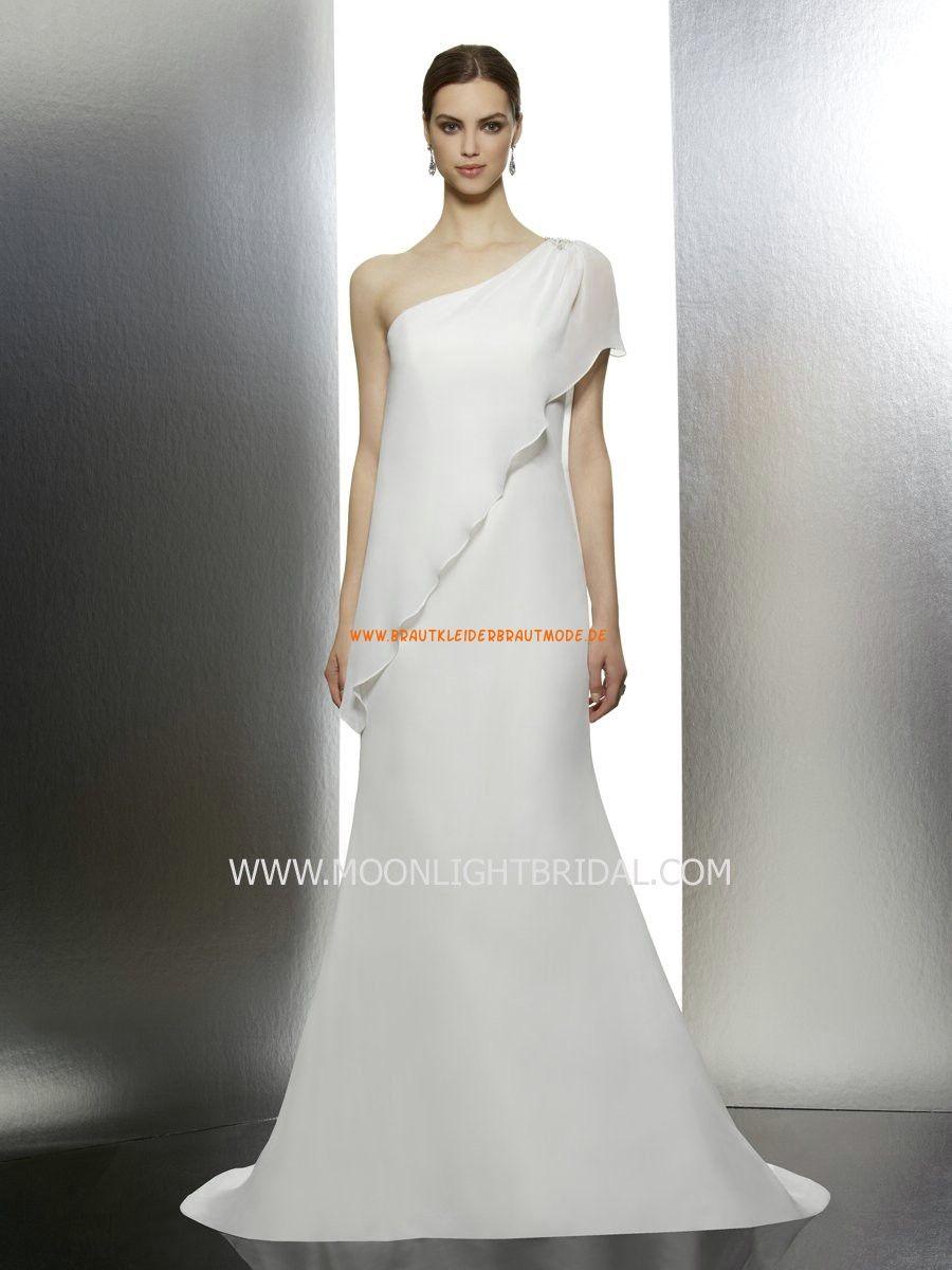 Moonlight Tango A-linie Schlichte Einfache Brautkleider aus Chiffon ...