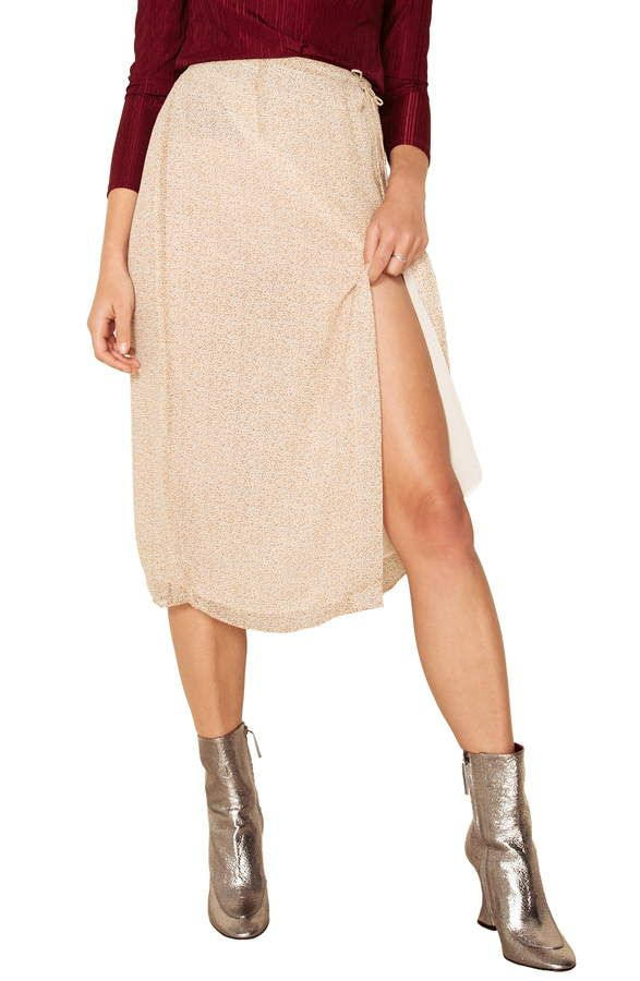add99013a12b Women's The East Order Vera Side Slit Midi Skirt, Size Small - Ivory ...